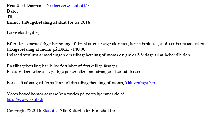 falsk mail oktober 2016
